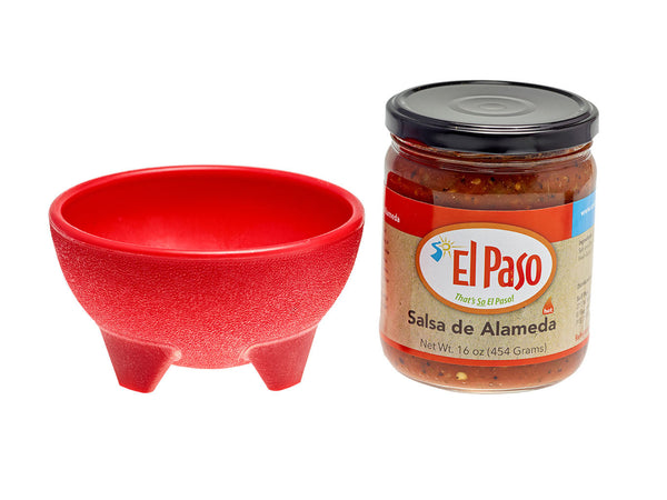 Salsa de Alameda with Red Bowl