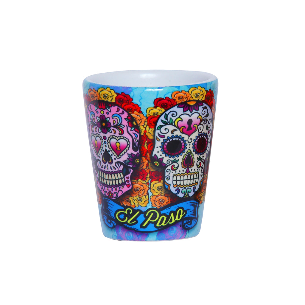 Shot Glass - Day of the Dead Blue