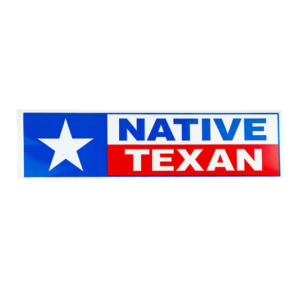 Bumpersticker - Native Texan