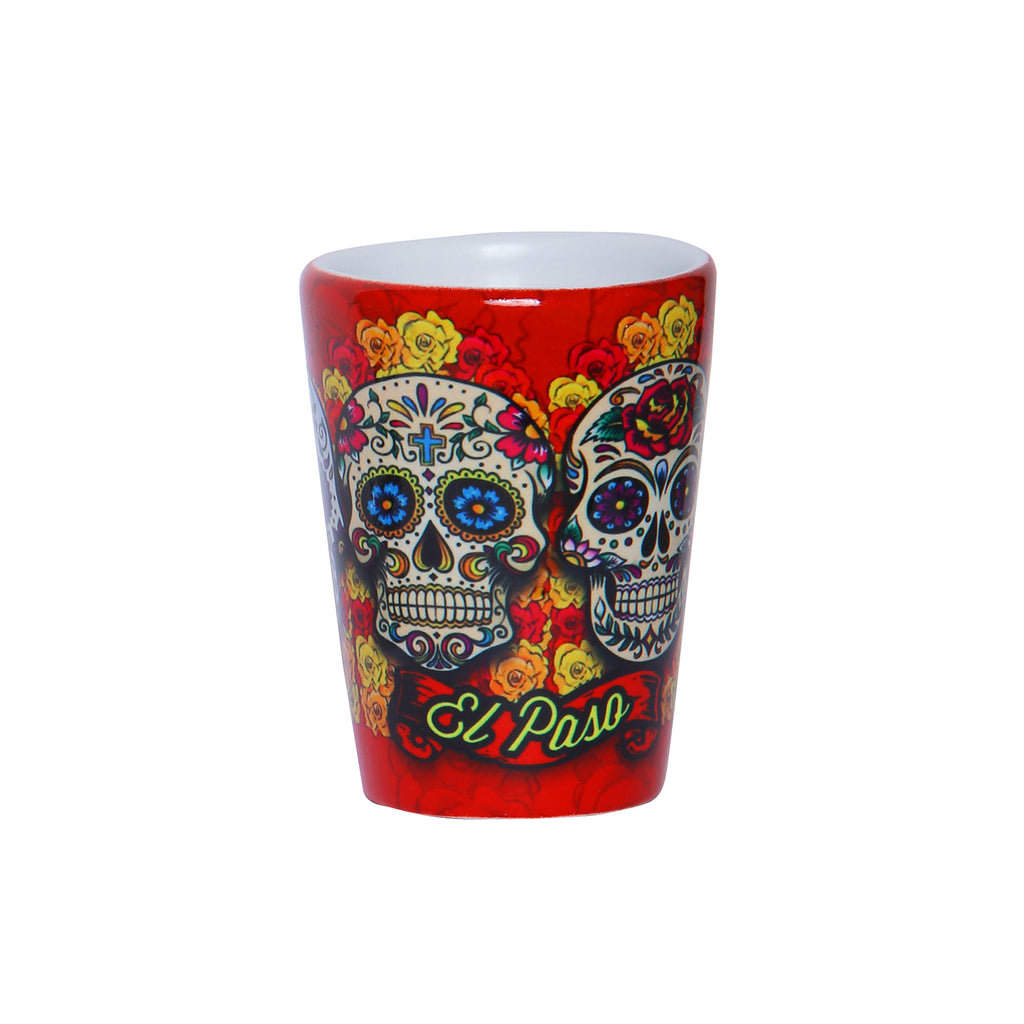 Shot Glass - Day of the Dead Red