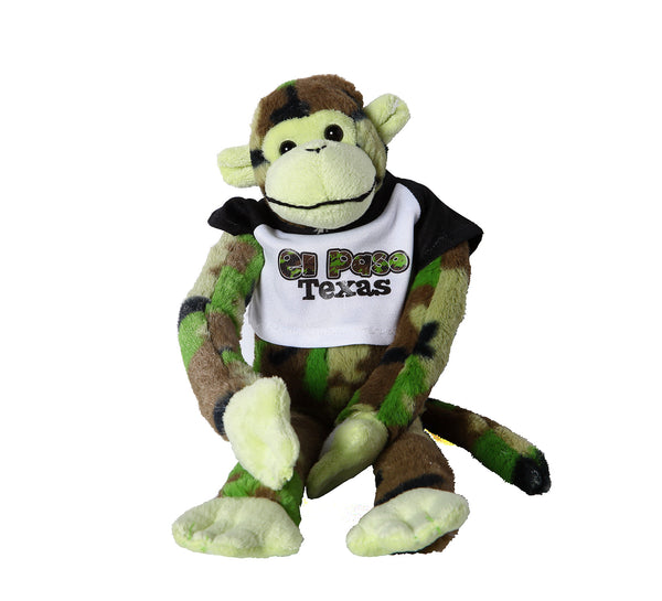 Plush - Green Camo Monkey