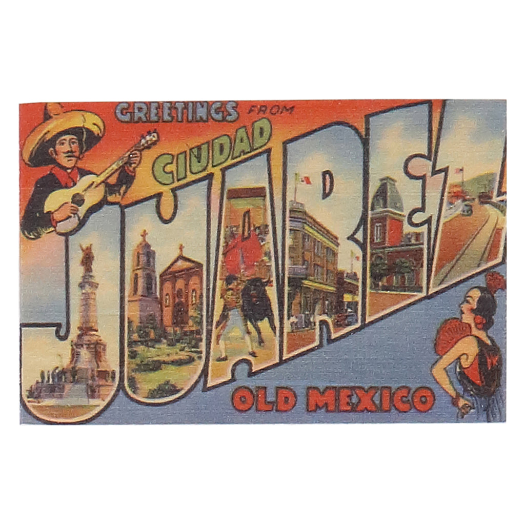 Magnet(Wood) - Greetings From Juarez