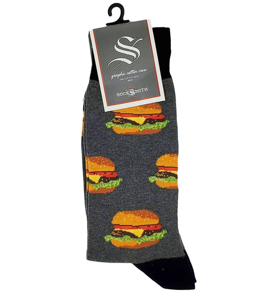 Socks(M) - Good Burger - Heather/Grey