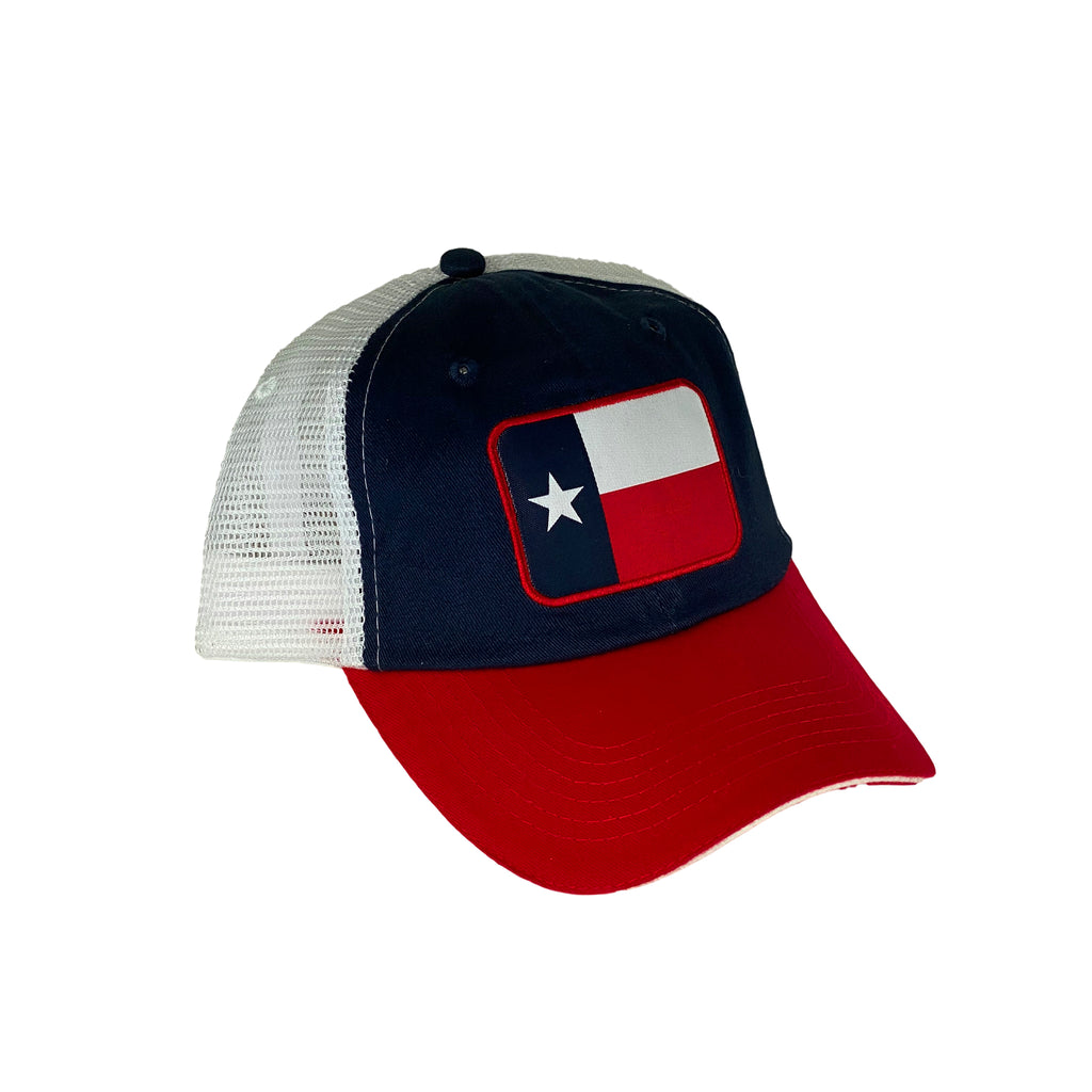 Hat- Tx Flag Blue Mesh
