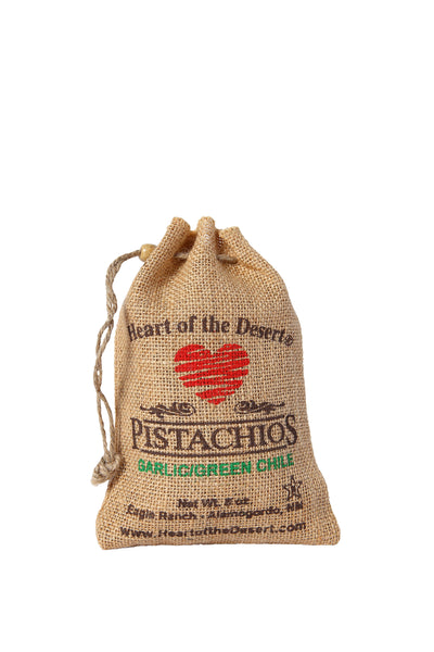 Pistachios - 1/2 LB Green Chile/Garlic - burlap bag
