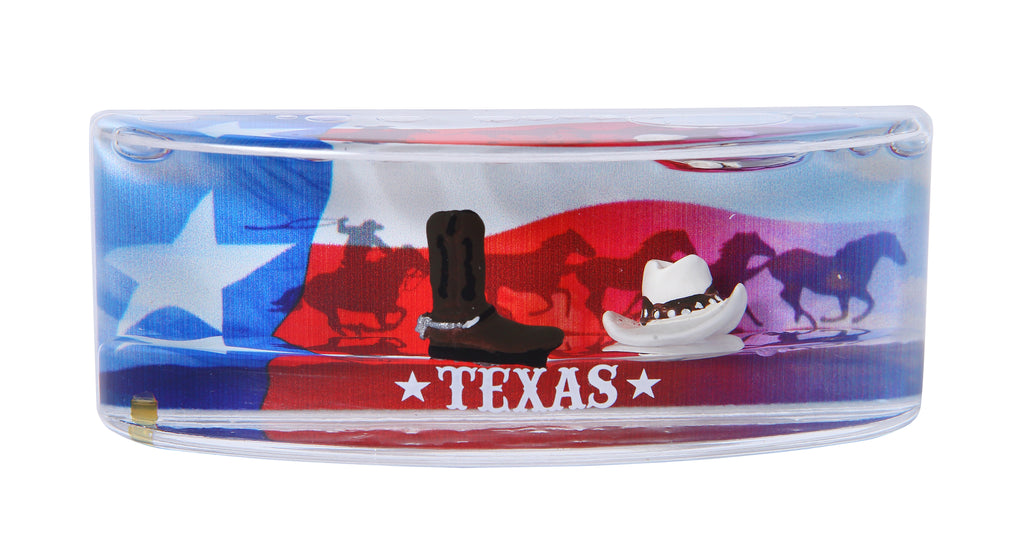Magnet - Water/Texas Flag w/Wild Horses
