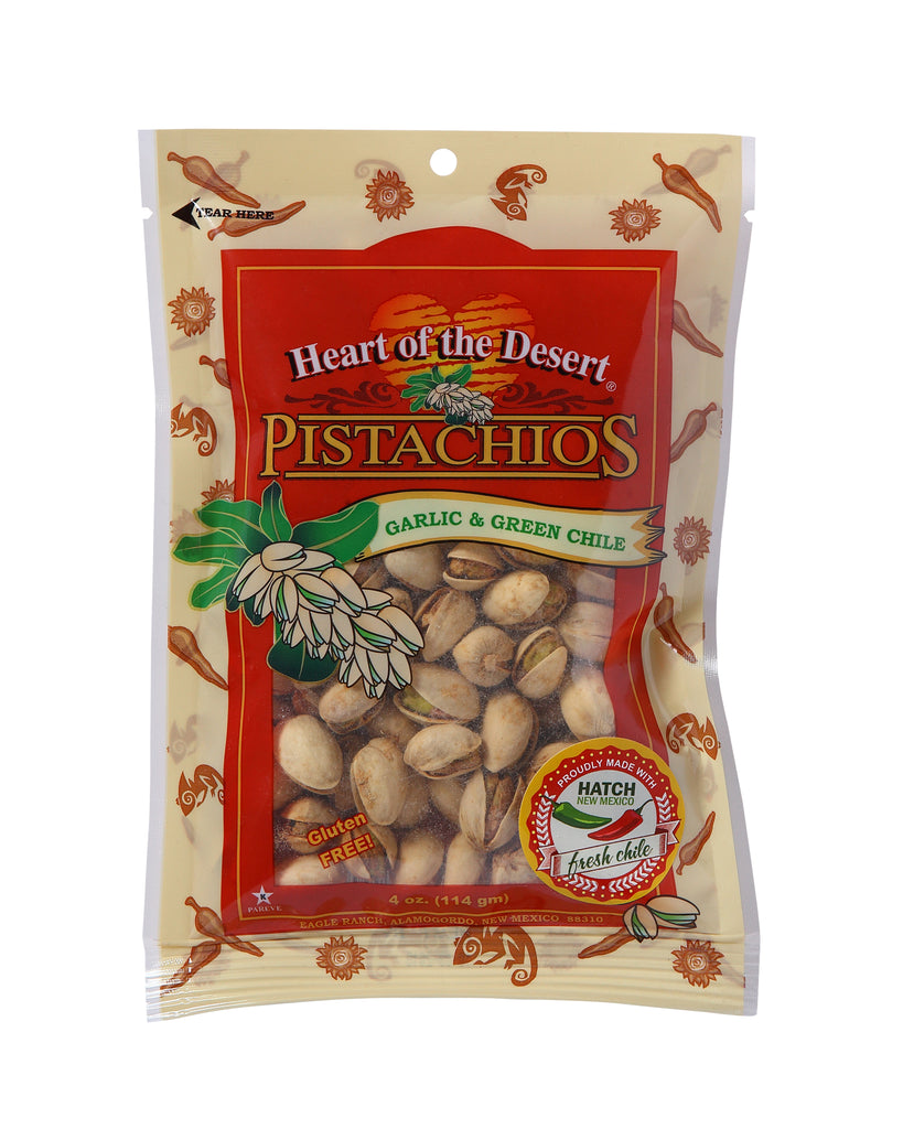Pistachios - 1/4 Green Chile/Garlic Plastic