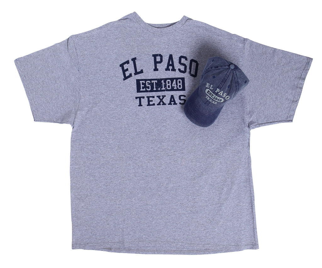 Combo - Denim Hat & Grey Shirt, Est ELP