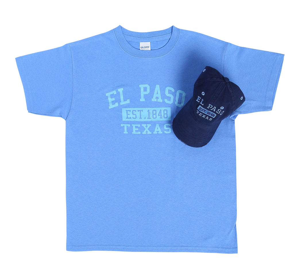 Combo - Navy Hat & Carolina Blue Shirt, Est ELP Youth