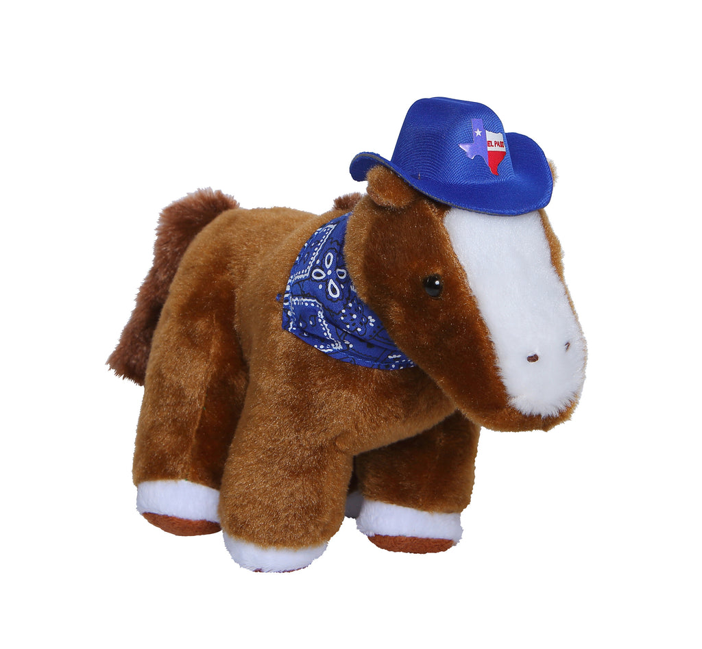 Plush - Brown Horse w/ Hat