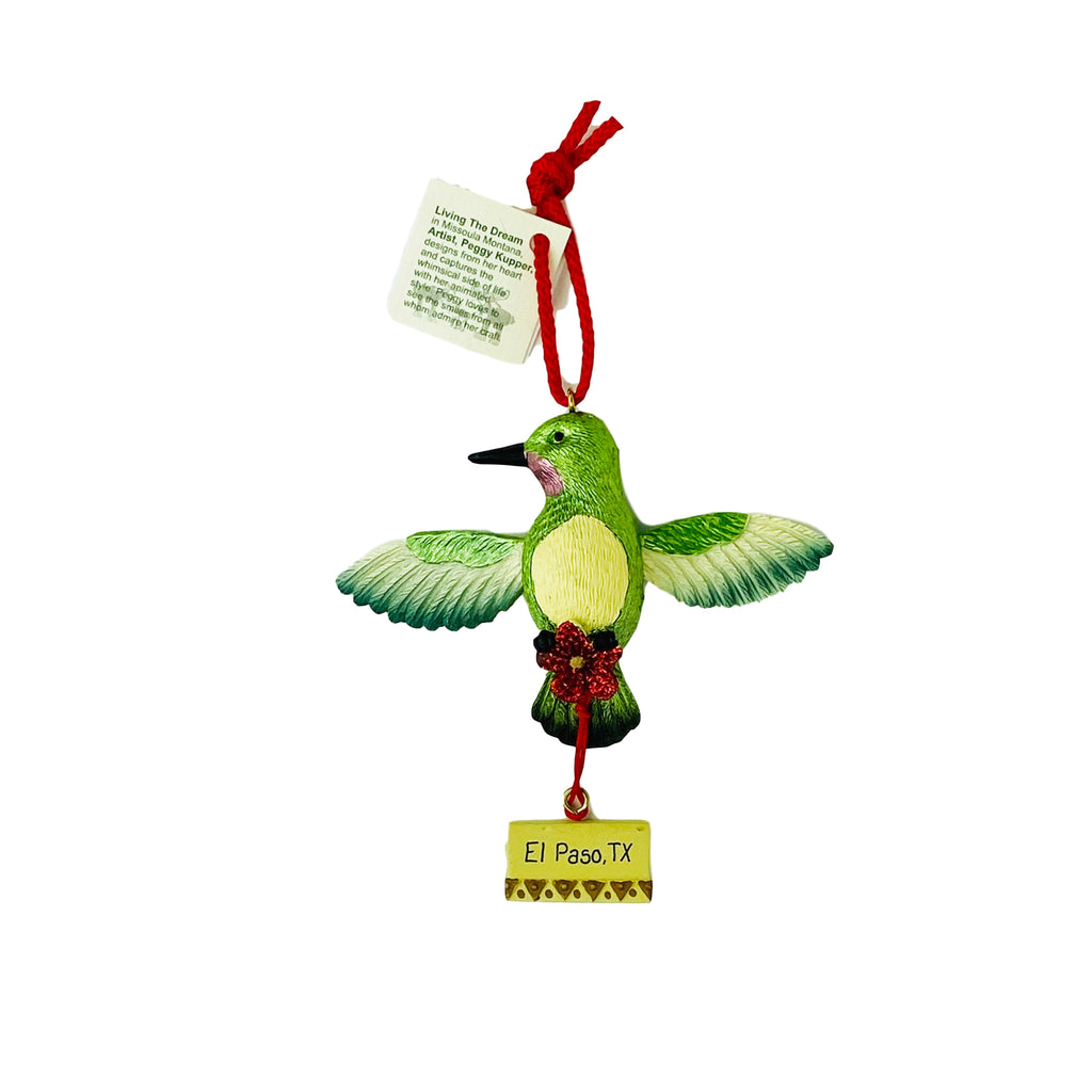 Ornament - Humming Bird Pull