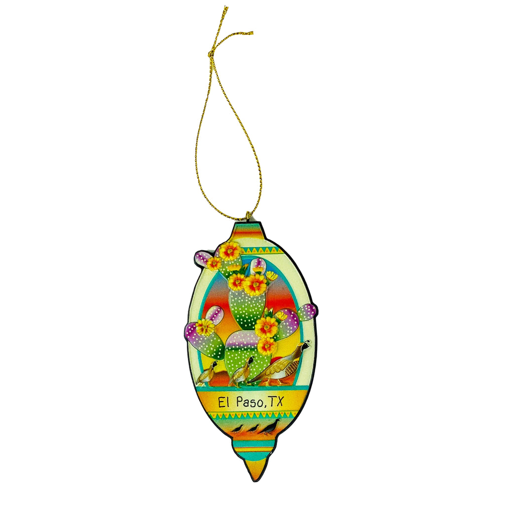 Ornament - Quail and Prickly Pear
