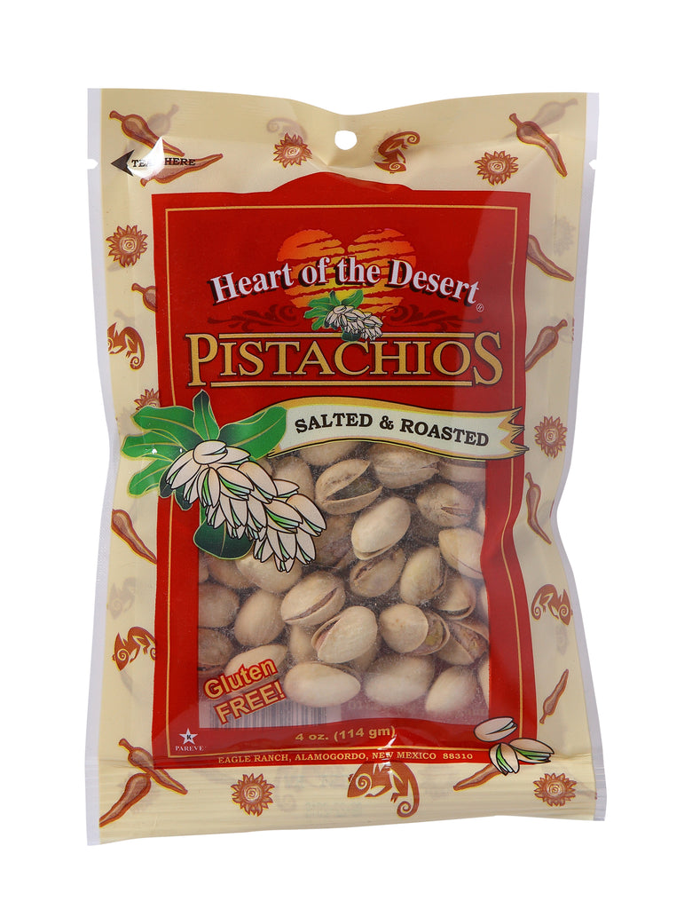 Pistachios - 1/4 LB Salted Roasted - plastic bag