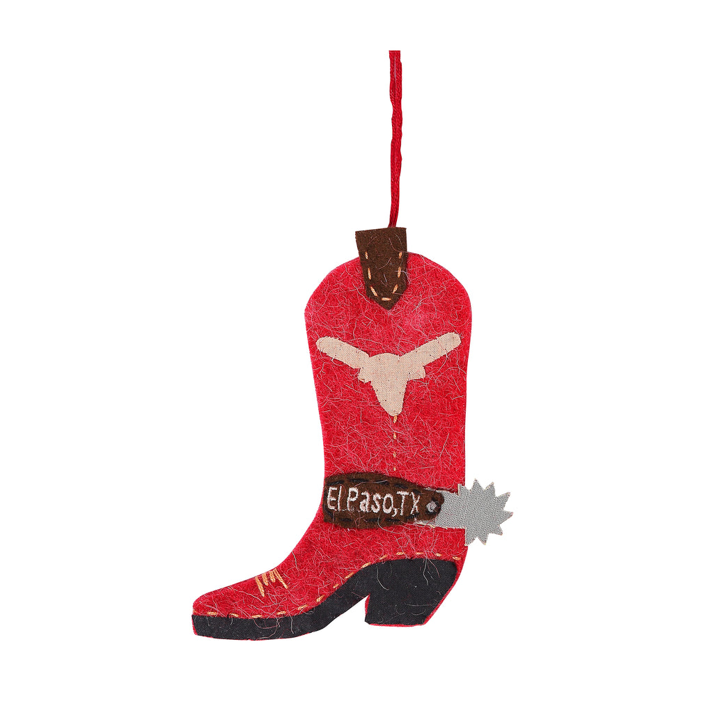Ornament - Recycled Western Boot