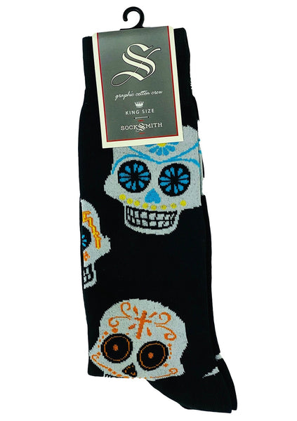 Socks (M)- DOD Black Skulls