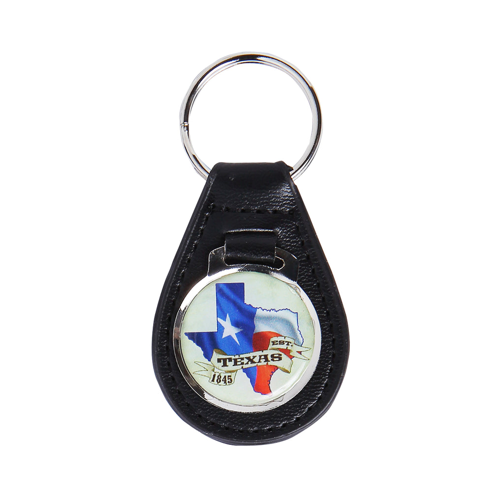 Keychain - Texas Leather
