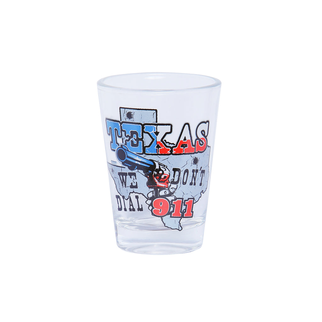 Shot Glass - TX Don't Dial 911