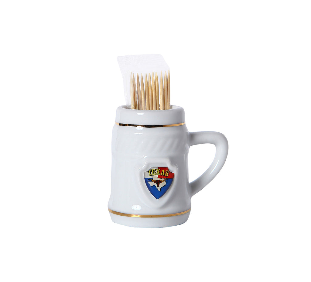 Toothpick Holder w/ Texas Shield