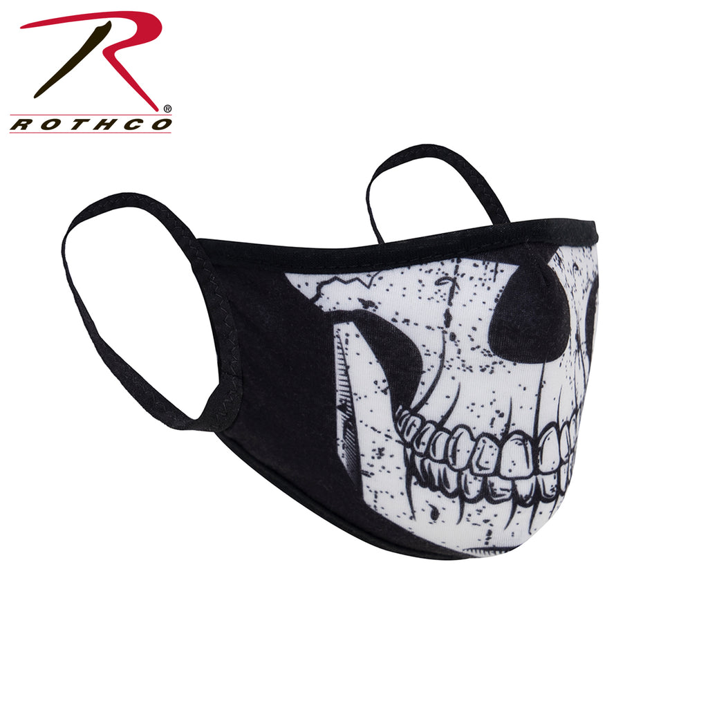 Rothco Half Skull Reusable Face Covering