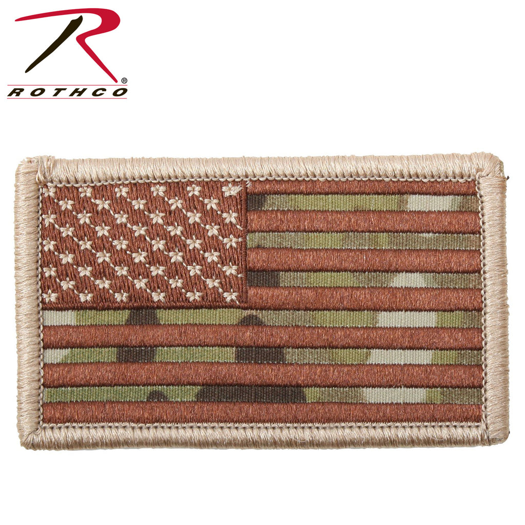 Multicam Subdued US Flag with Velcro