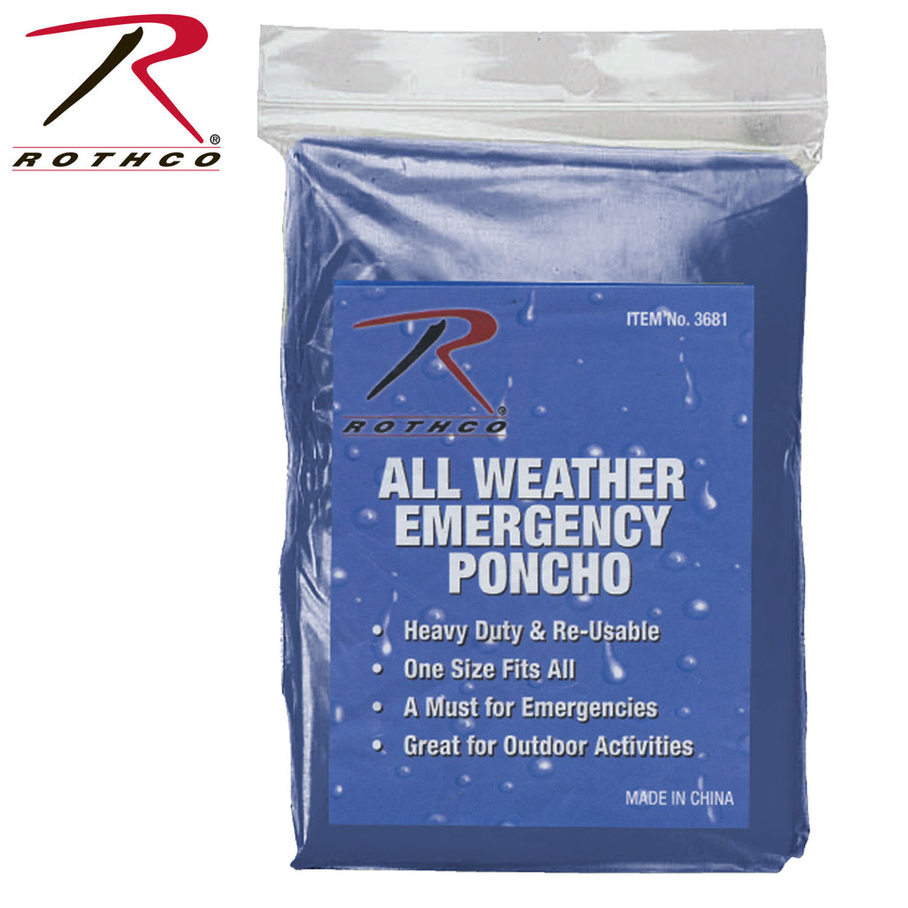 Rothco All Weather Emergency Poncho