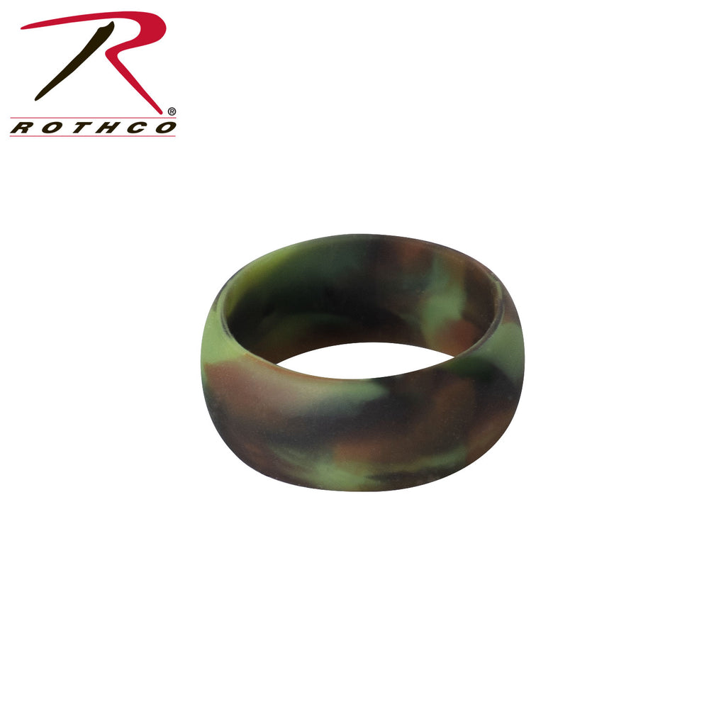 Rothco Camo Silicone Band / Rubber Wedding Ring
