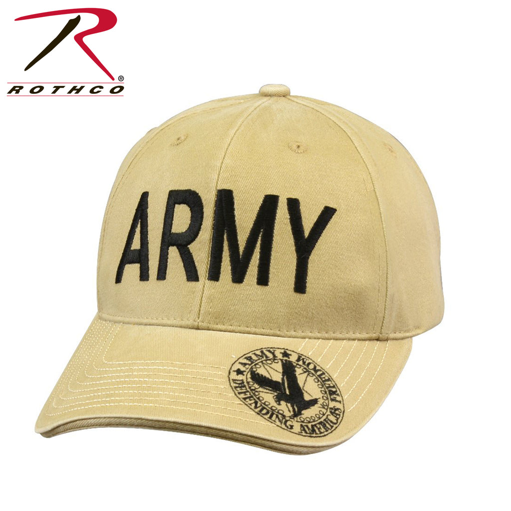 Rothco Vintage Deluxe Army Low Profile Insignia Cap