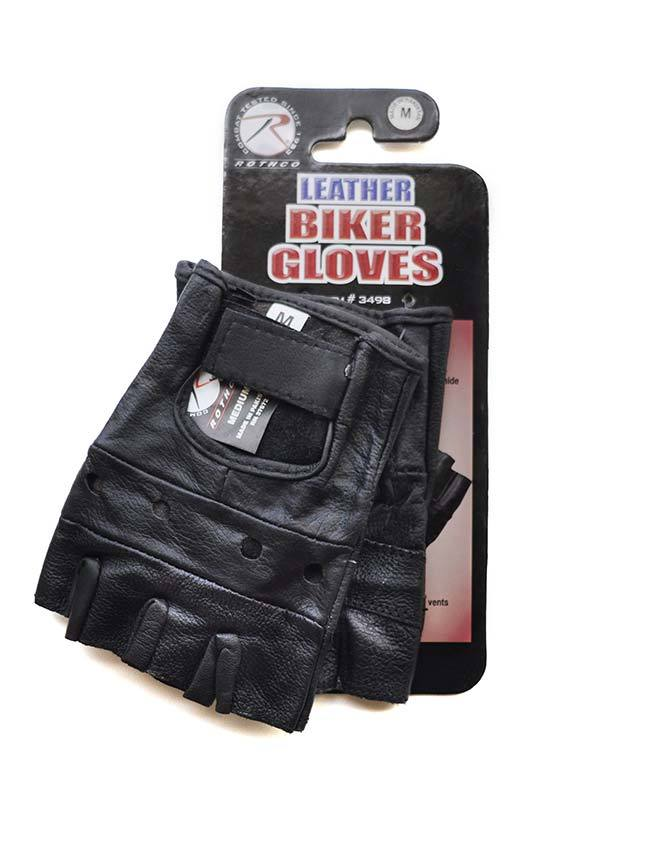 Rothco Leather Biker Gloves