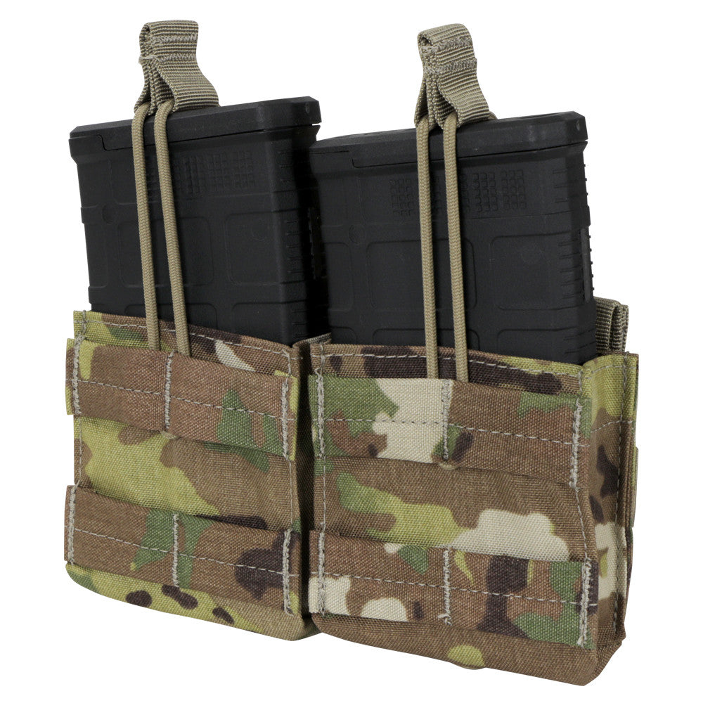 DOUBLE M14 OPEN TOP MAG POUCH WITH SCORPION OCP