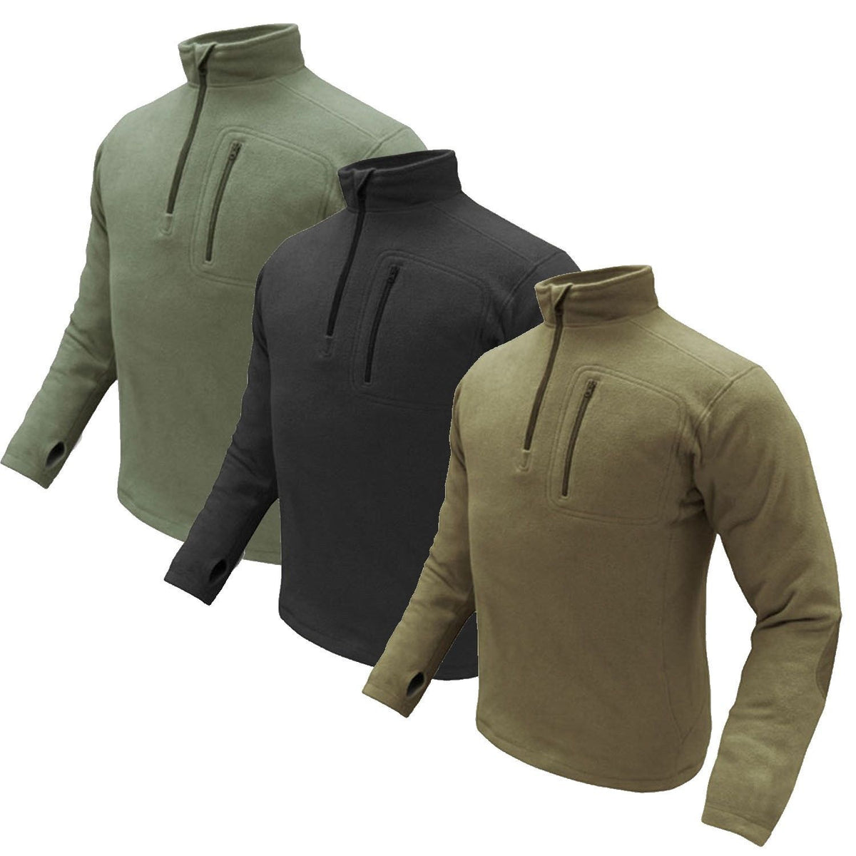 Condor 1//4 Zip Fleece Pullover Olive Drab