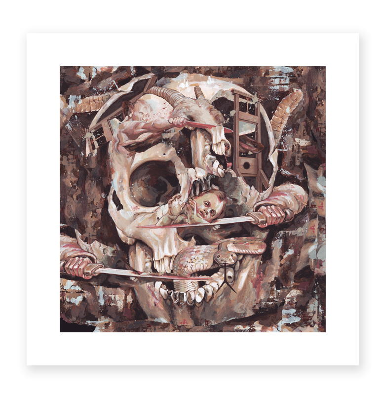King Nine - Death Rattle Giclee Print