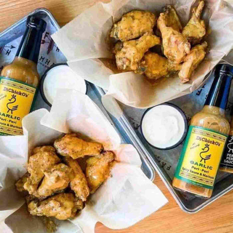 Garlic Peri-Peri Chicken Wings with Peri-Peri Ranch