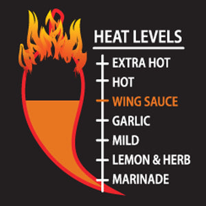 Load image into Gallery viewer, Peri-Peri Wing Sauce Heat Level Meter