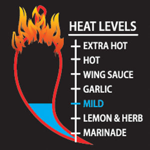 Load image into Gallery viewer, Mild Peri-Peri Sauce Heat Level Meter