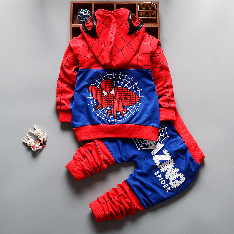 Spiderman Baby Boys Clothing Sets Cotton Sport Suit For Boys Clothes Spider Man Costumes KIds Clothes Three Piece Set - Hijab Modesty İstanbul