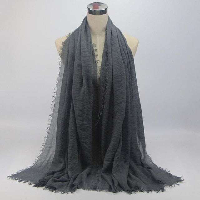Classical Premium Viscose Maxi Crinkle Cloud Hijab Scarf Shawl Soft - Hijab Modesty İstanbul