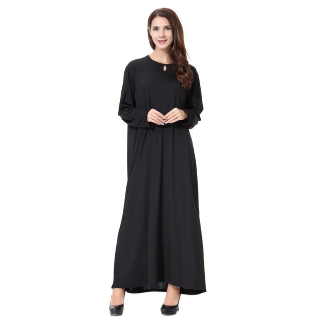 Black Maxi Abaya Woman Muslim Long Islamic Hijab Style Maxi Dress - Hijab Modesty İstanbul