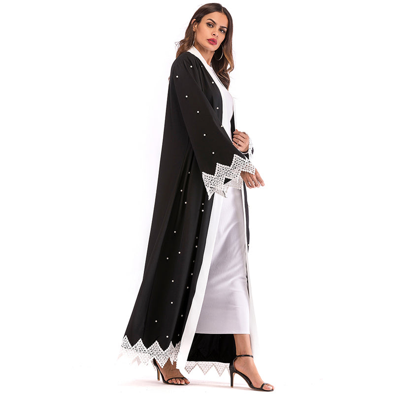 Plus Size Arabic Abaya Muslim Kaftan Woman Beading Cardigan Hijab Maxi Dress Islamic Clothing - Hijab Modesty İstanbul