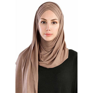 Muslim Under Scarf Summer Islamic Cotton Jersey Lightweight Hijab Scarf Full Cover Caps Headwear