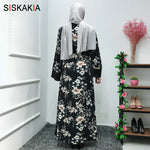 Muslim Floral Abaya Dress Casual Cardigan - Hijab Modesty İstanbul
