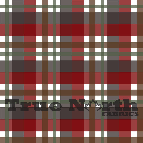 True North Moose Plaid French Terry
