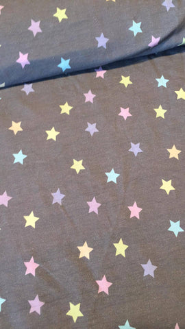 Heathered Pastel Stars French Terry
