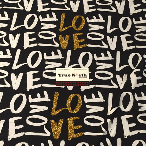 LOVE- 1/2 Metre Cotton Lycra