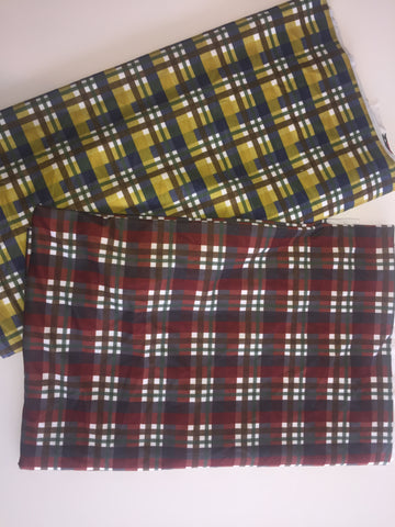 True North Plaid Bundle- Brushed Poly