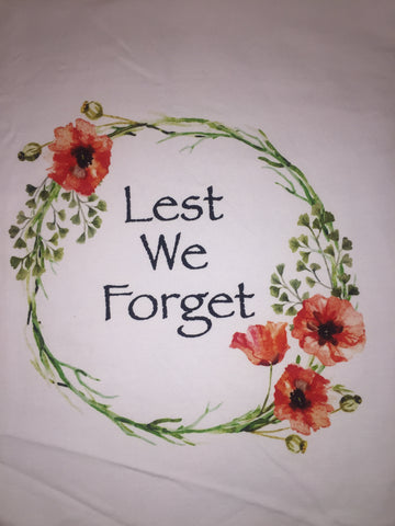 Lest We forget Panel- Adult Woven