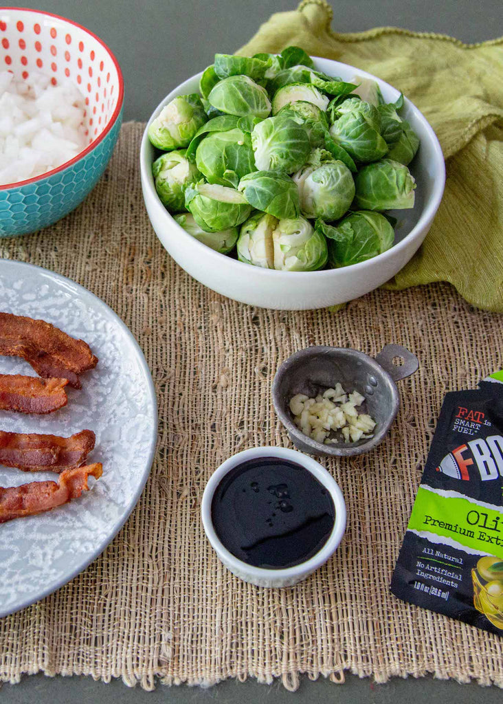 Roasted Paleo Brussel Sprouts with Bacon