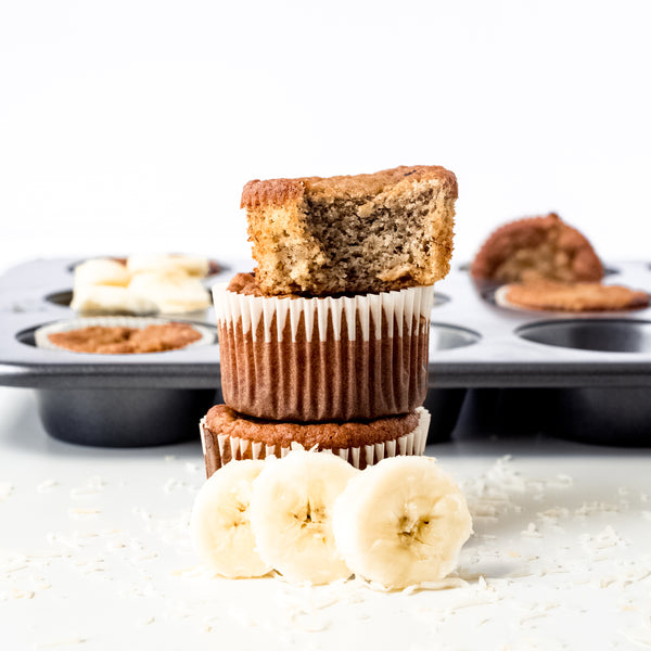 low carb paleo banana muffins