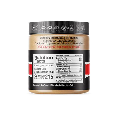 macadamia nut butter nutrition