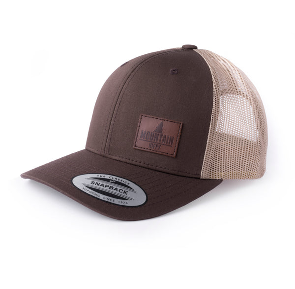 Trucker Cap Leather Patch Logo