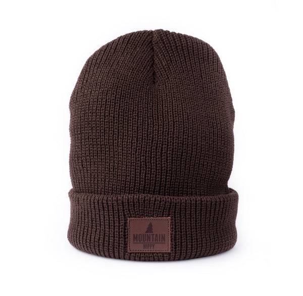 Beanie leather patch logo